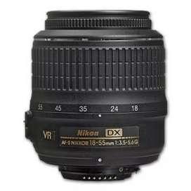 Di jual lensa Nikon standar 18-55 mm