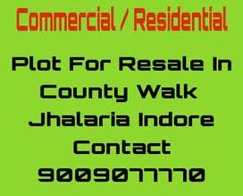 Plots available in Country walk Jhalaria AB Road Bypass Call 4 Visit