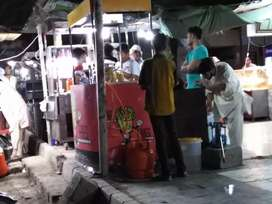 French fries cook for stall