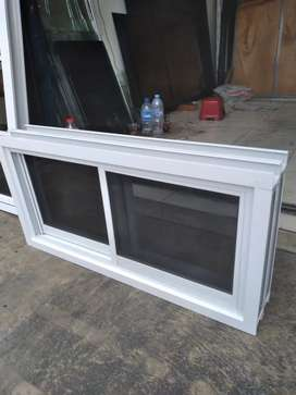 Jendela geser alumunium alexindo yg sdh lengkap uk 60cm x 120cm