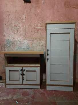 Sepasang Meja tv & lemari pakaian