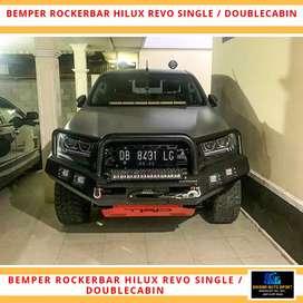 Bumper hilux depan model rocker bar hilux triton dmax navara pajero sp