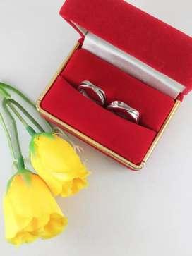 Jual cincin couple bahan palladium halal untuk pria muslim