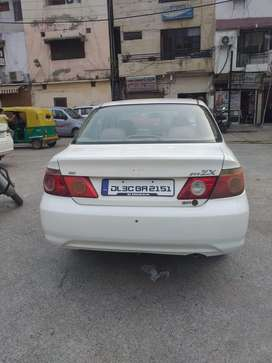 White honda city zx