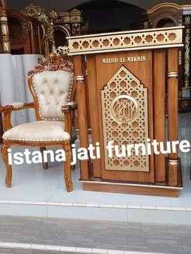 Ready stock mimbar masjid khutbah masjid