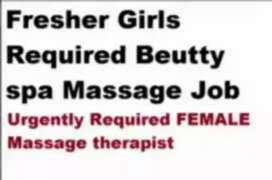 Fresher girls required for spa massage parlour spa..