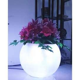 Rgb pot bunga menyala