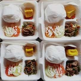 TF3 Sekat Kotak Makanan Styrofoam Gabus (1pack 100lembar)