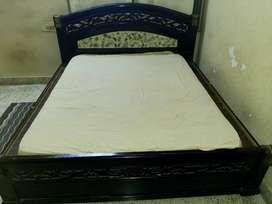 Wood Bed, Double Queen Bed