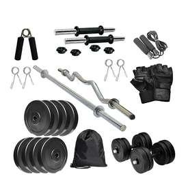 Fitness 4kg to 20kg  combo weight dumbbellrod set