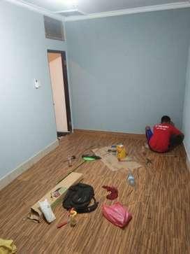 Lantai vinil dan walpaper
