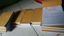 Pembuatan nota ukuran folio