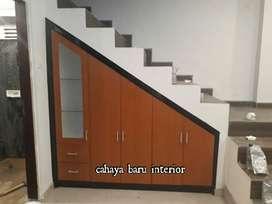 lemari bawah tangga, simpel Model harga terjangkau