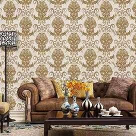 Format wallpaper dinding spesial Gordyn hordeng  gorden minimalis