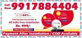 Airtel Tatasky DTH - Tata sky Dishtv D2H - Dish new connection - COD