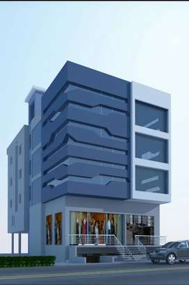30m road front Exclusive commercial as well as residential space.
