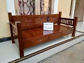 Sofa bale kayu jati minimalis