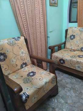 Sheesham wood excellent high quality sofa set with imported cover