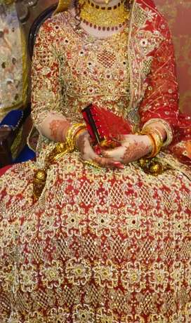 Bridal dress.. lehnga for first day brides. in good condition
