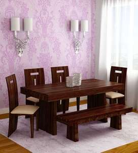 pure wooden dining table for 6 person for sale its brand new