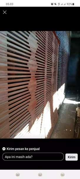 Tirai bambu dan rotan dan isi bambu dan kulit