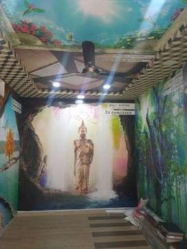 Ground floor comerical shop on main road of  Dwarakanagar for Rent