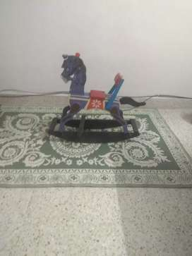 Wooden play horse for kids