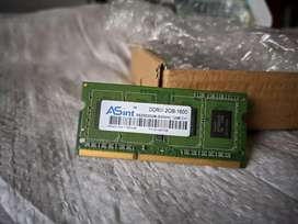 Ram Laptop merk ASint 2GB DDR3 PC-12800
