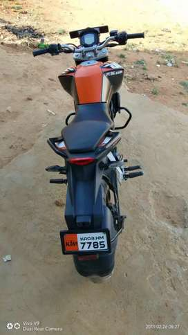 It is a well maintained two wheeler that he's been less driving
