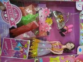 Mainan anak baru barbie set banyak kostum