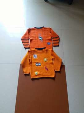 Orange And Black colour sweater