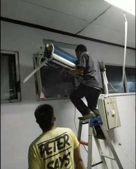 Service AC pasang AC dan perbaikan AC kulkas mesin cuci
