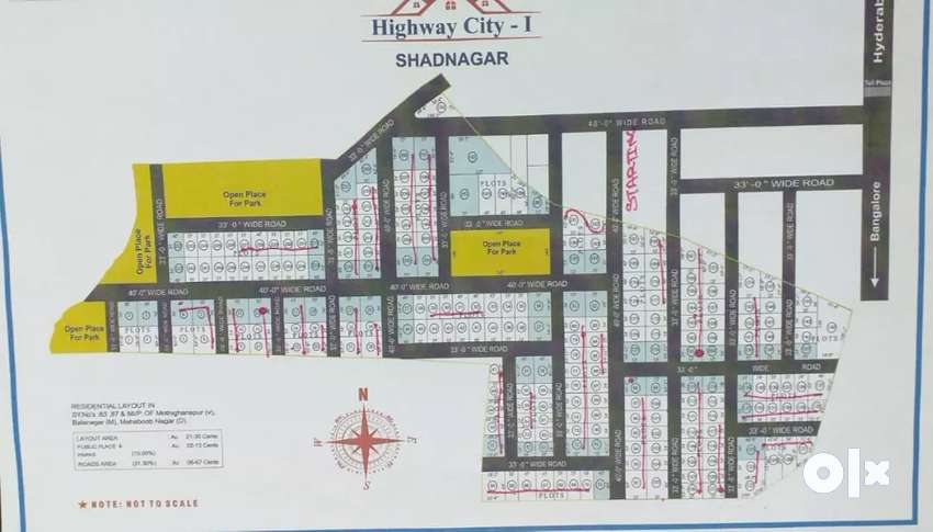 The project of highway city open plots at shadnagar near tollplaza 0