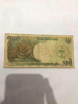 Uang Jadil 500 rupiah gambar monyet