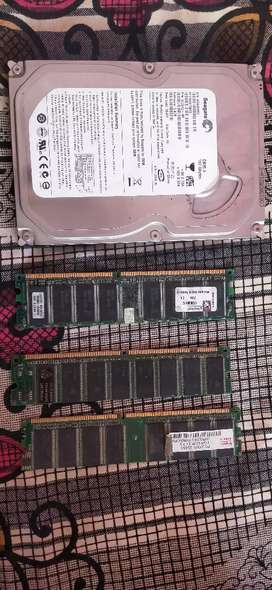 RAMs and harddisk at very low cost neetly used..urgent need money