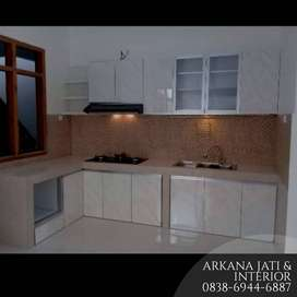 Kitchen Set Bahan Kayu Jati