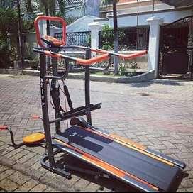 Treadmill manual 6 fungsi BA419 alat fitness