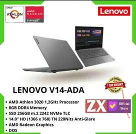 Laptop LENOVO V14 SSD AMD-3020 RAM 8 Promo Bebas Admin 0%