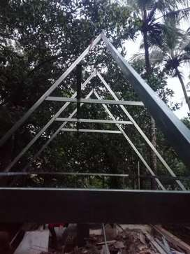 Tress work ,sheet roofing for homes and building