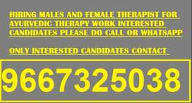 need decent male candidates to work as a massage therapist