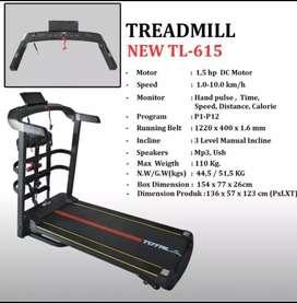 Barang Ready - Treadmill Elektrik TL-615 //Siap Antar (Bebas Ongkir)