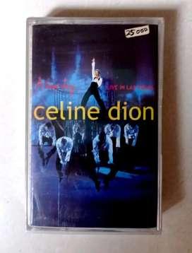 kaset pita segel album celine dion a new day ... live in las vegas