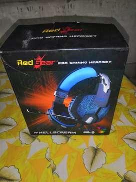 Gaming Headphones RED GEAR HELL SCREAM