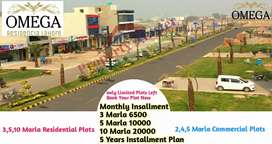 3,5 Marla Plots Available on Easy Installments in omega residencia lhr