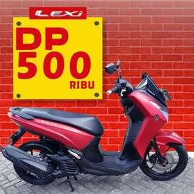 Dp cuma 500rb angsuran rendah bonus helm baru,Yamaha Lexi 2018