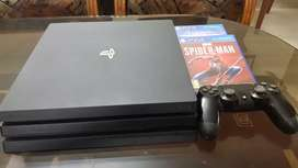 2018 Sony PS4 Pro 1TB for sale with 2 Games (Spider-man & Horizon)