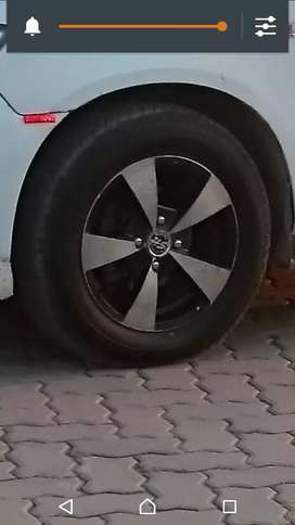 "Alloy rims new tyres 14"" exchange possible"