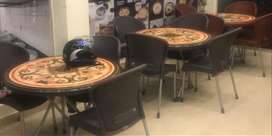 Brand new restaurant plastic chairs and tables for Sale