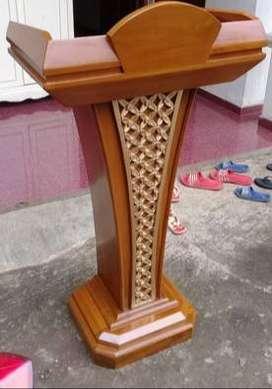 mimbar masjid podium ukir