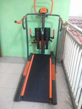 8 fungsi kebugaran manual treadmill non listrik kidssporty